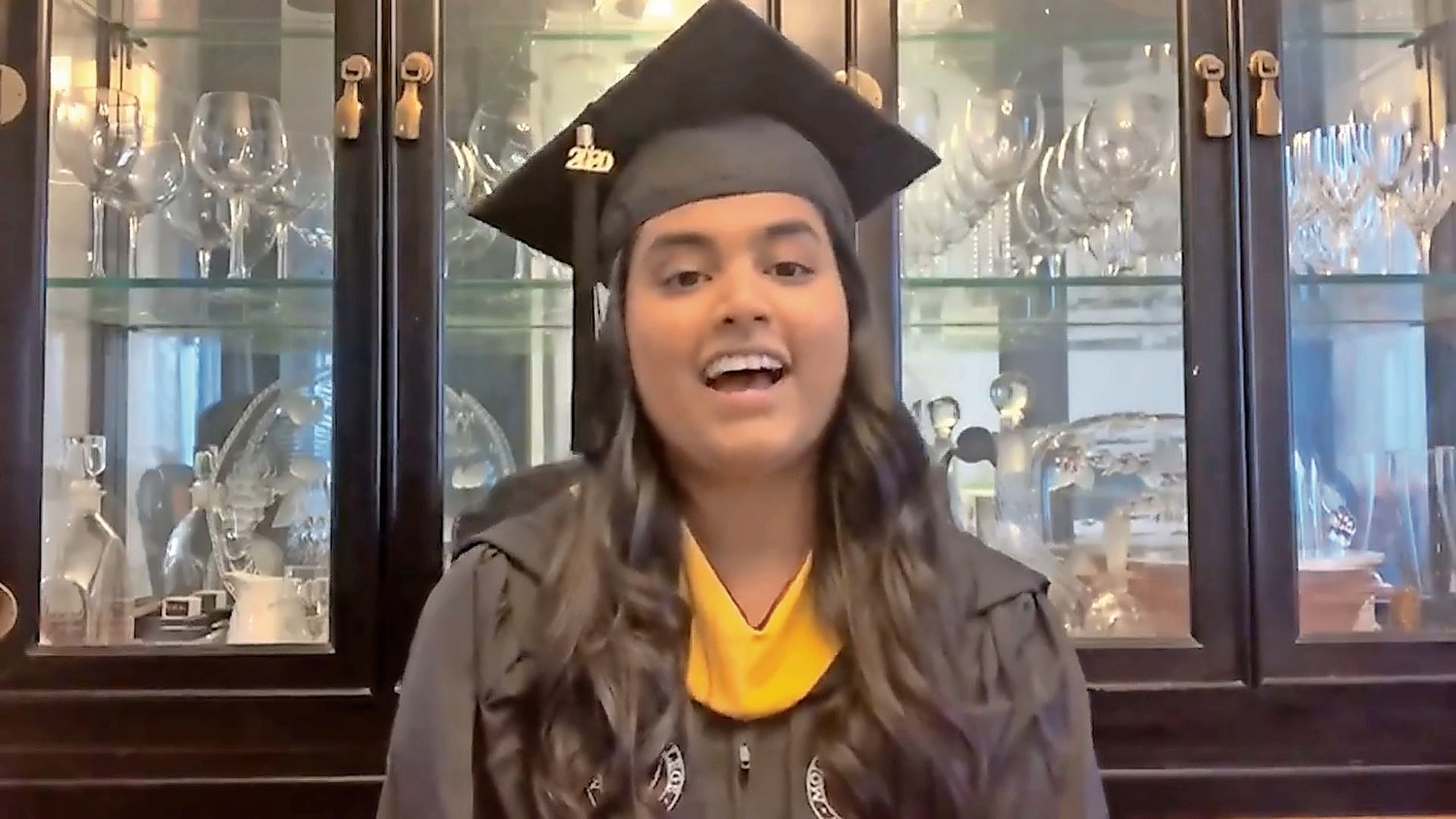 Salutatorian Dharana Prasad, who majored in biology, expressed her gratitude for her time at Molloy and wished her fellow graduates success.