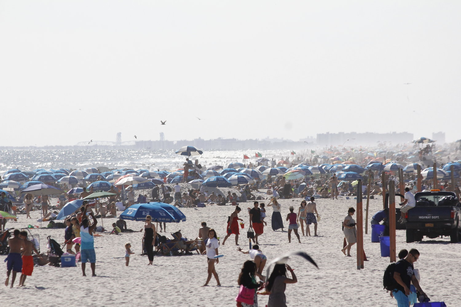 The Long Beach City Council voted to open the beach on Saturday. Photo was taken before the Covid-19 pandemic.