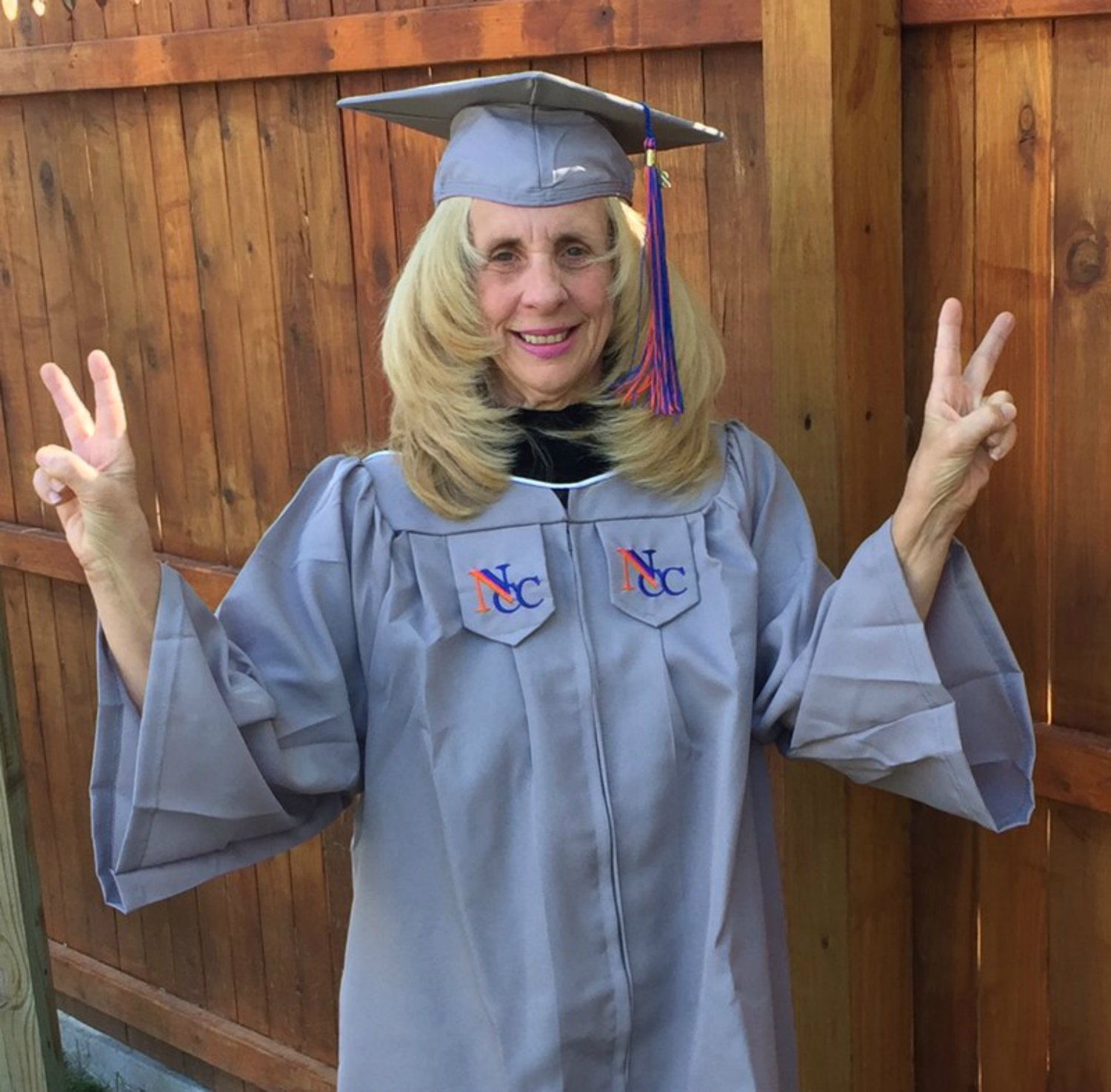 Pamela Marie Young Osman, 59, of Glen Cove, is graduating from Nassau Community College with a associate's degree in disability studies.