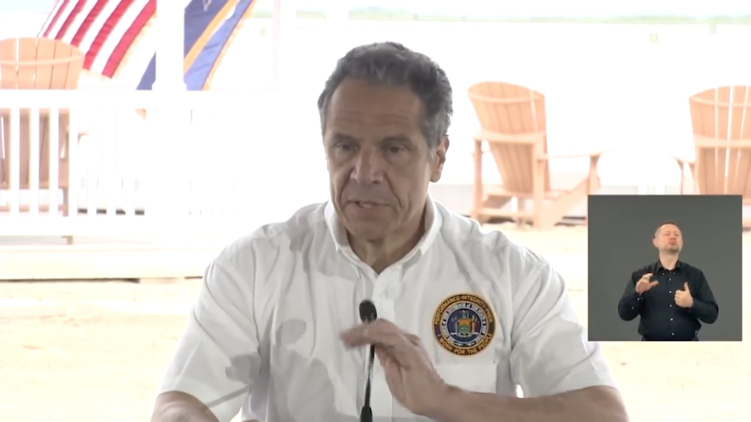 From Jones Beach Sunday, Governor Cuomo said Long Island was on track for Phase One reopening on May 27, though he noted the number of Covid-19 deaths needed to decline and the number of contact tracers needed to increase.