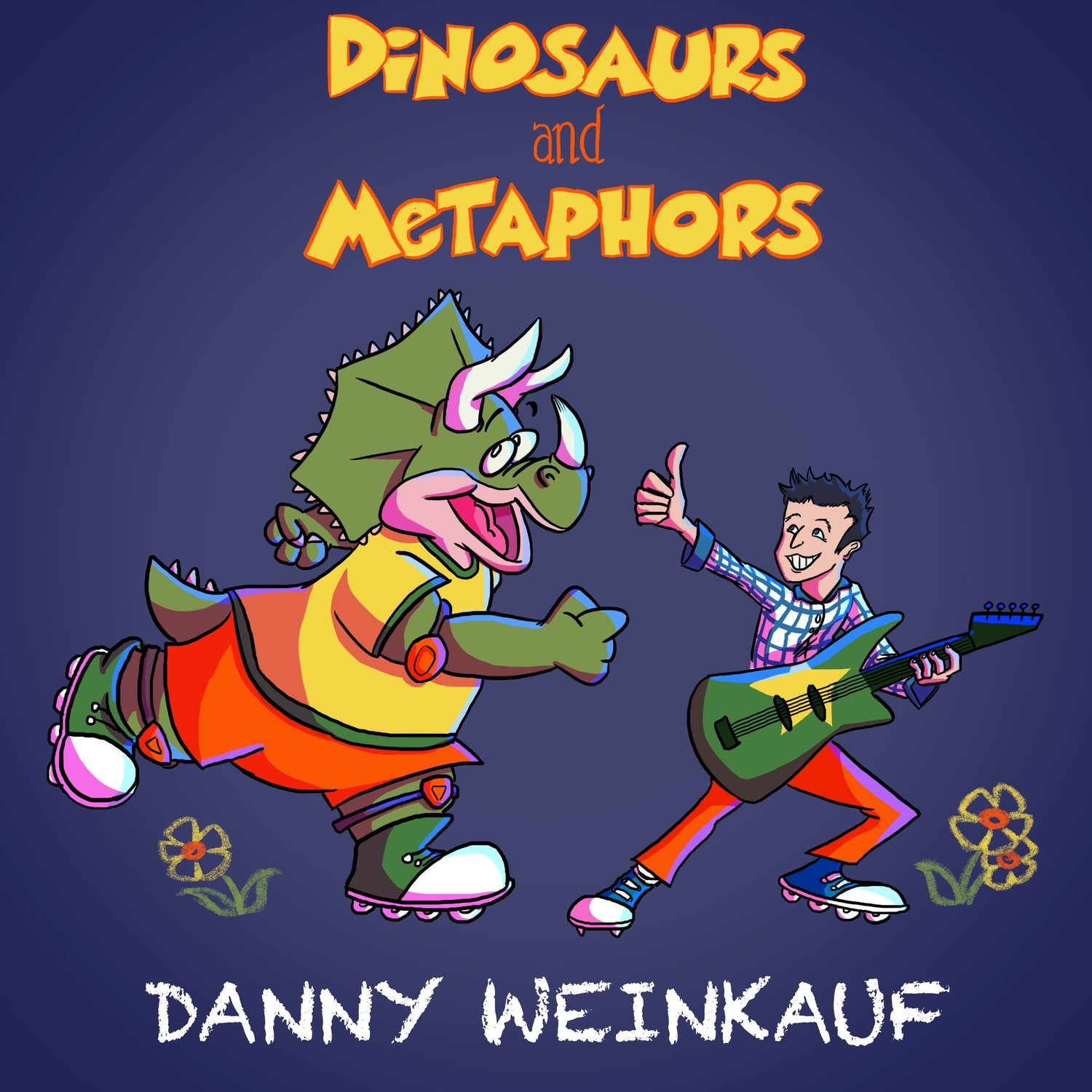 "The album art for ""Dinosaurs and Metaphors."""