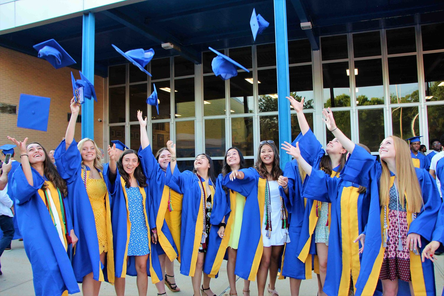 Baldwin High School graduating seniors last year celebrated after their commencement ceremony.