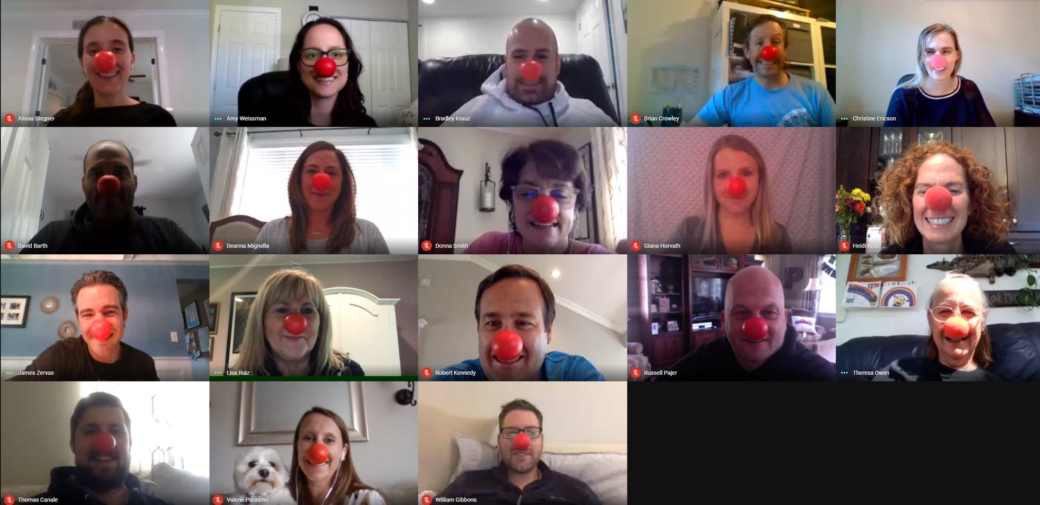 The East Rockaway School District celebrated Red Nose Day with a virtual twist this year.