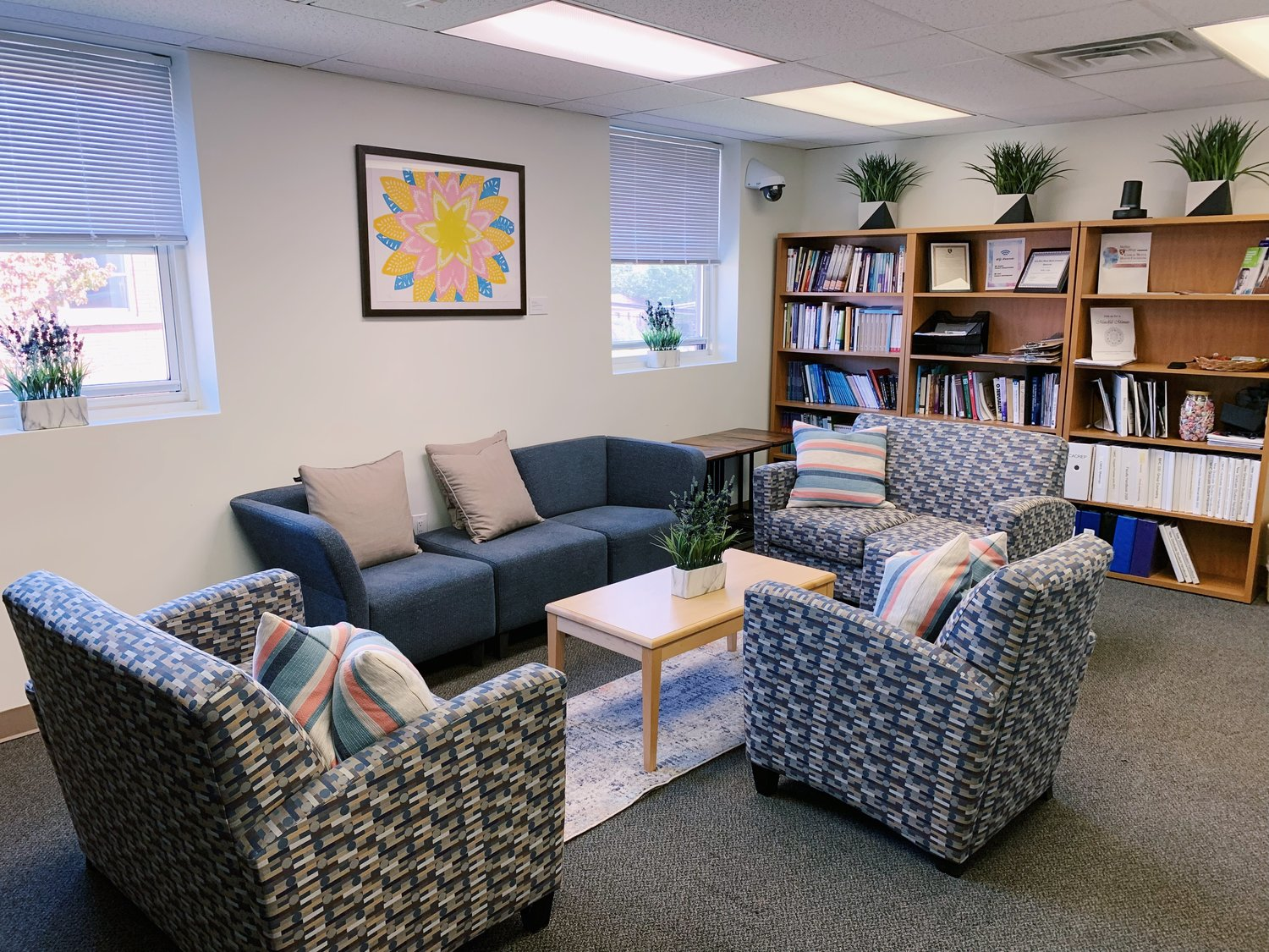 Though Molloy College's Mental Health and Wellness Center is not seeing patients in person at this time, it offers tele-mental health services.