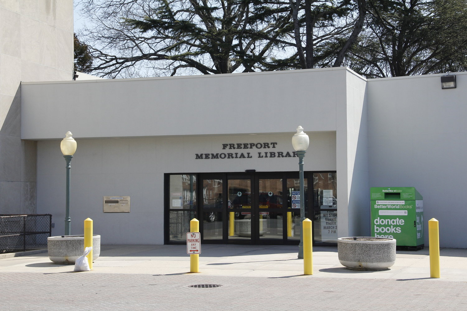The Freeport Library is offering curbside pickup on weekdays.