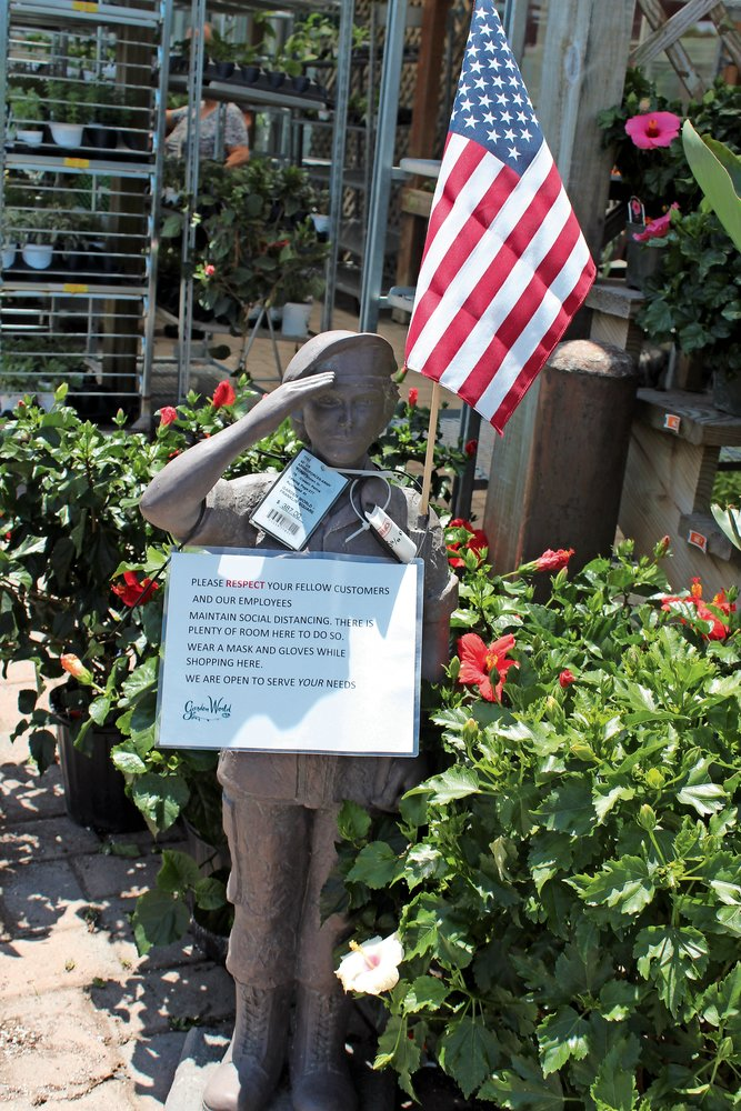 Garden World in Franklin Square is mandating that customers wear masks.