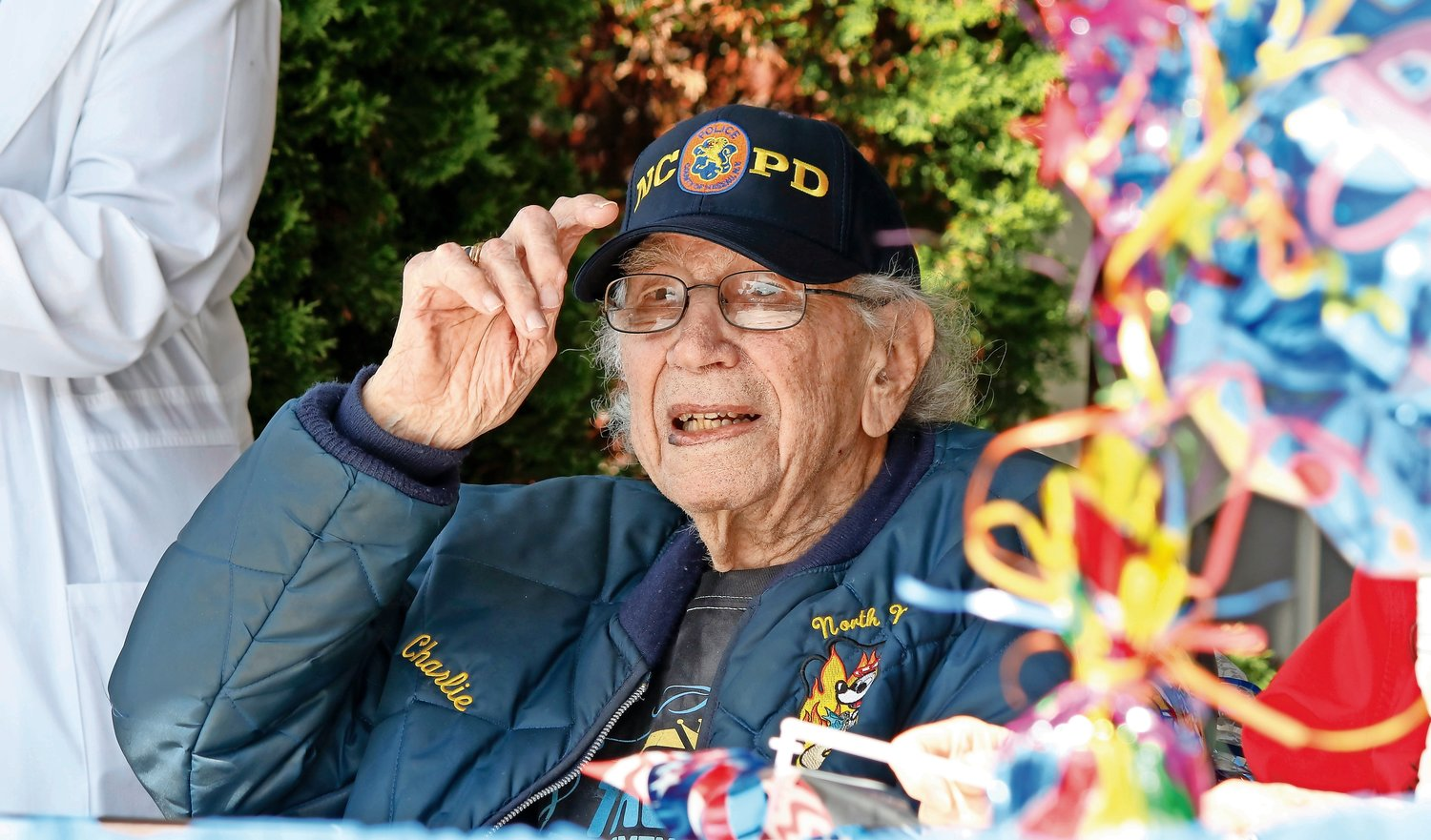 Charles P. Kerns, the highest-ranking World War II veteran in Nassau County, with 34 years of military service, turned 100 on May 29.