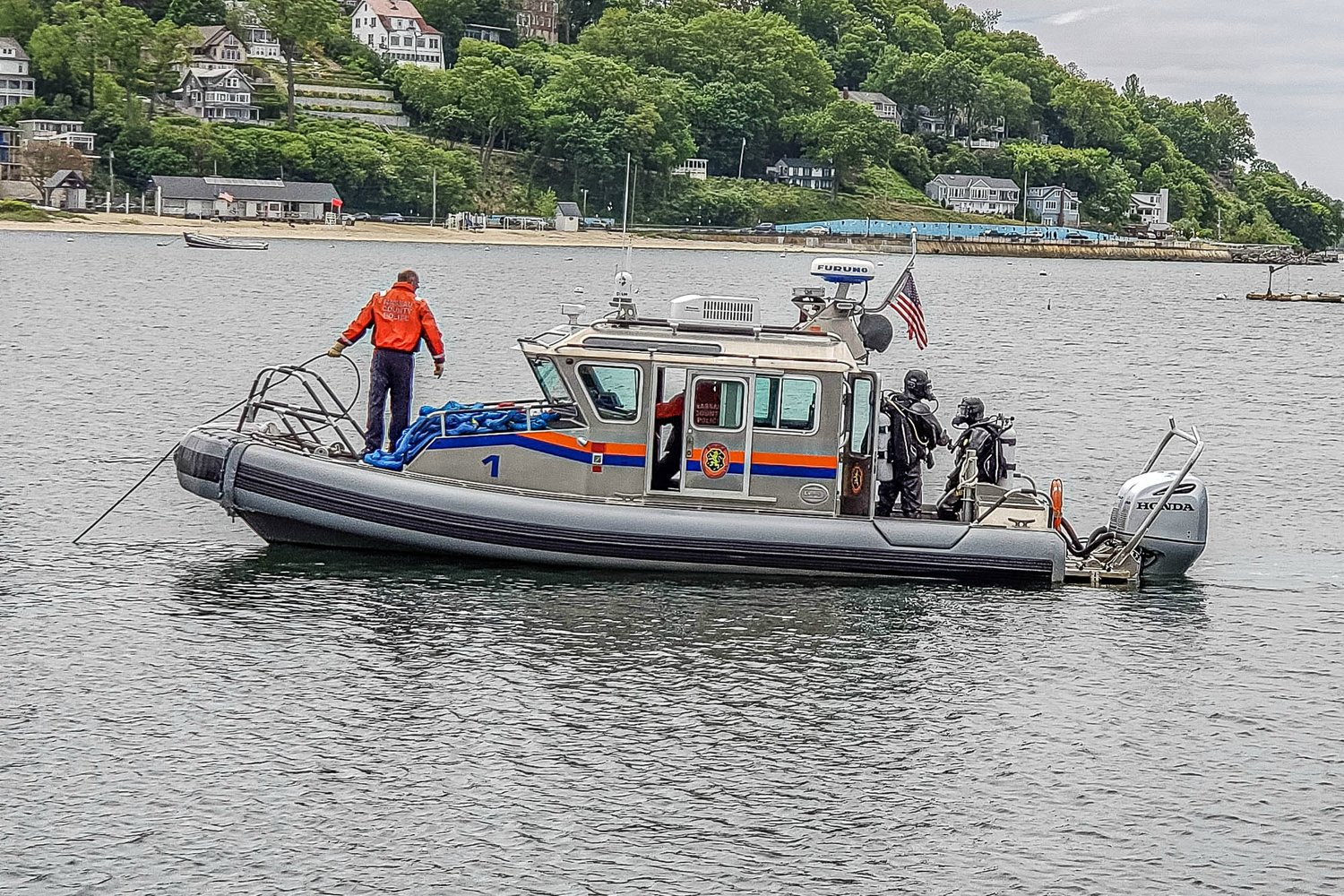 Multiple agencies, including the Nassau County Marine Bureau, were called to the scene.