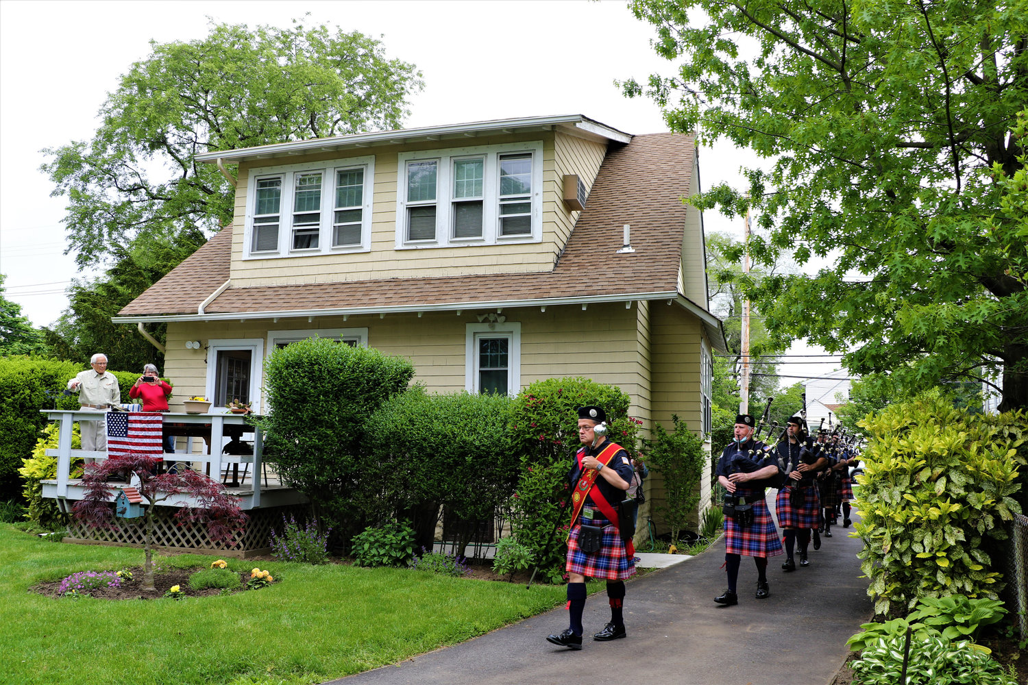 Members of the Wantagh American Legion Pipe Band performed.