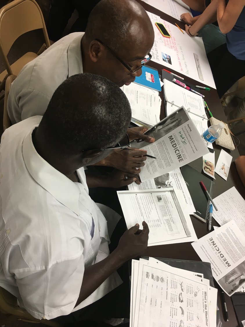 Haitian students learned English in CARACEN's Pathway to English class. The language barrier has prevented Haitian-Americans from receiving information about the coronavirus.