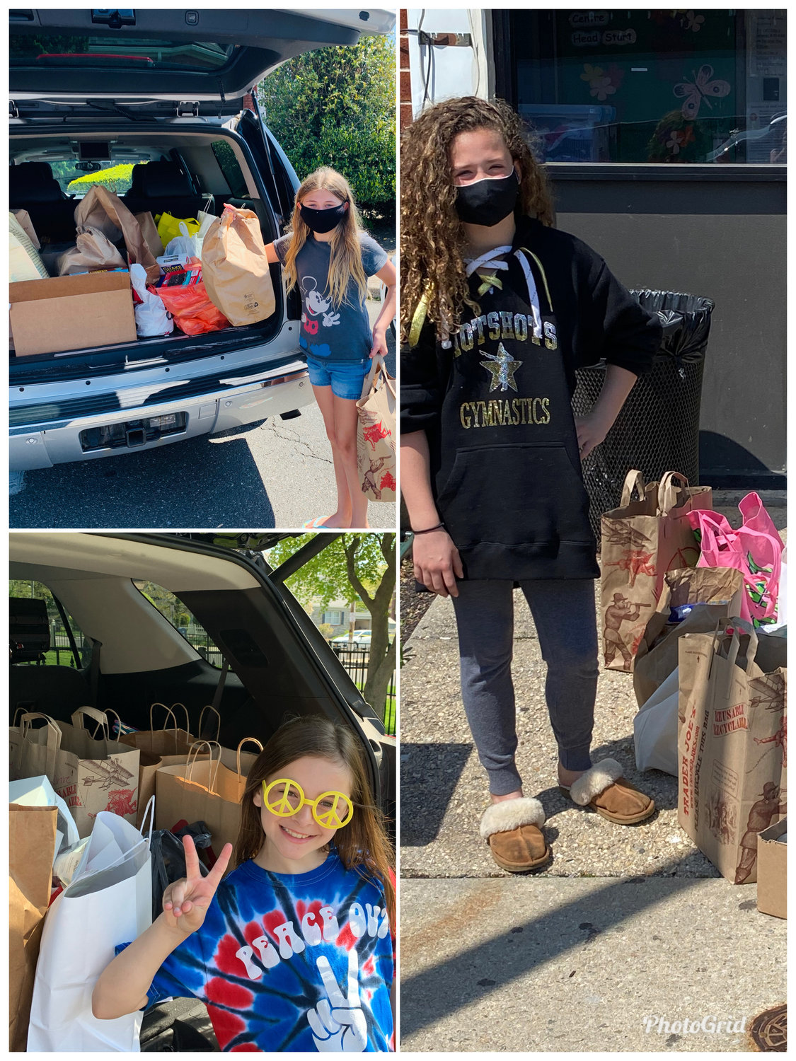 Covert fifth graders donated food to Rockville Centre's MLK Center pop-up food pantry and Vineyard Church food pantry.