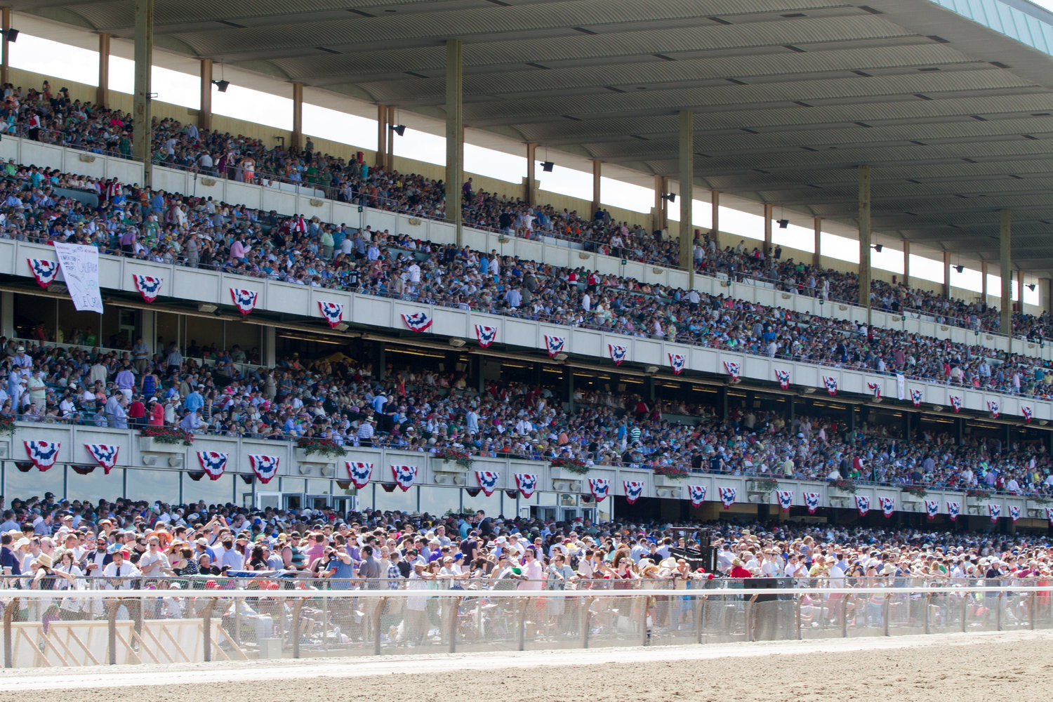 The stands at Belmont Park will not look the same on Stakes Day June 20.