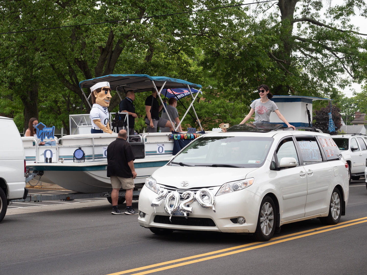 Oceanside High School seniors were honored by the community and staff with a parade on June 2.