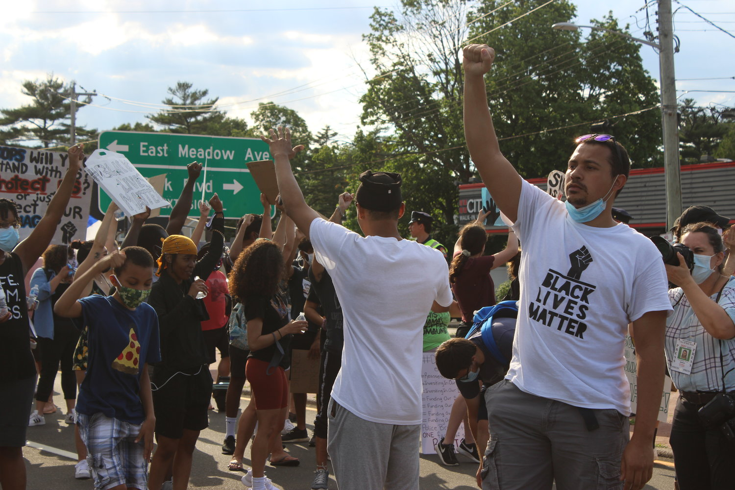 Terrel Tuosto, right, and his brother Tiandre have been leading a number of protests throughout Nassau County.