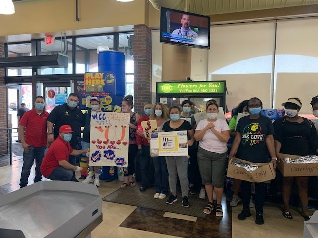 The Woodward Children's Center stopped by Gala Supermarket, in Freeport, to show their appreciation towards Gala's work during the pandemic on June 11.