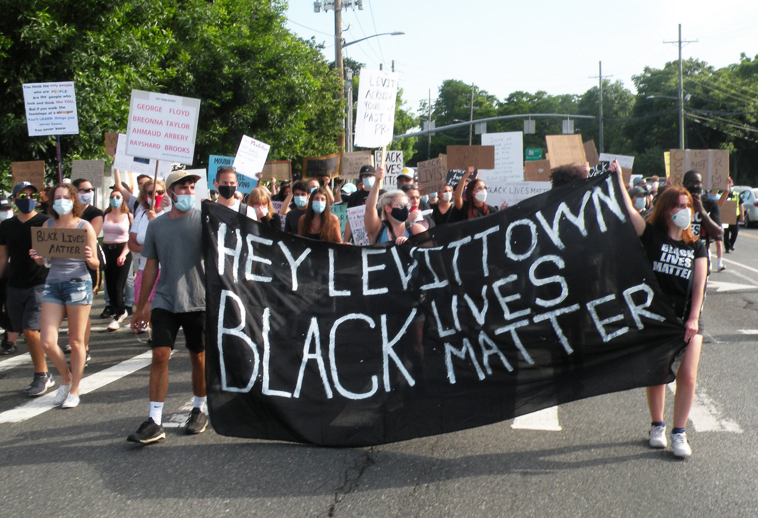 Protesters marched through Wantagh and Levittown last Saturday in support of Black Lives Matter.