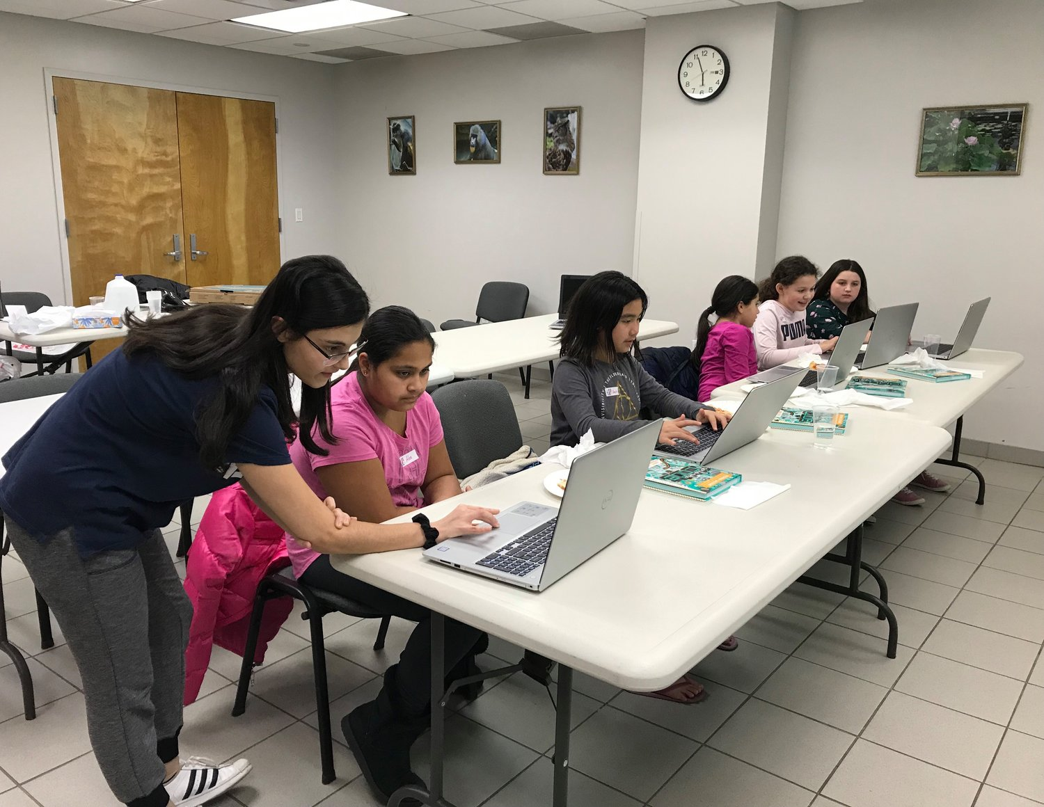 Pocress held coding lessons for girls at Oceanside Library as part of her Gold Award project.