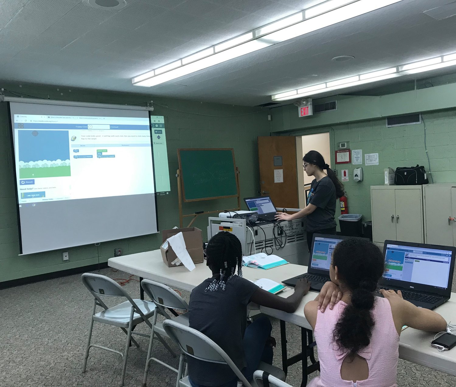 Pocress also held coding lessons at Freeport Library.