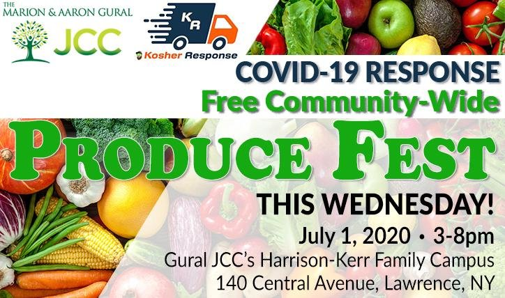 Sign up for a free fresh prduce giveaway sponsored by the Gural JCC and Kosher Respnse on July 1 in Lawrence.