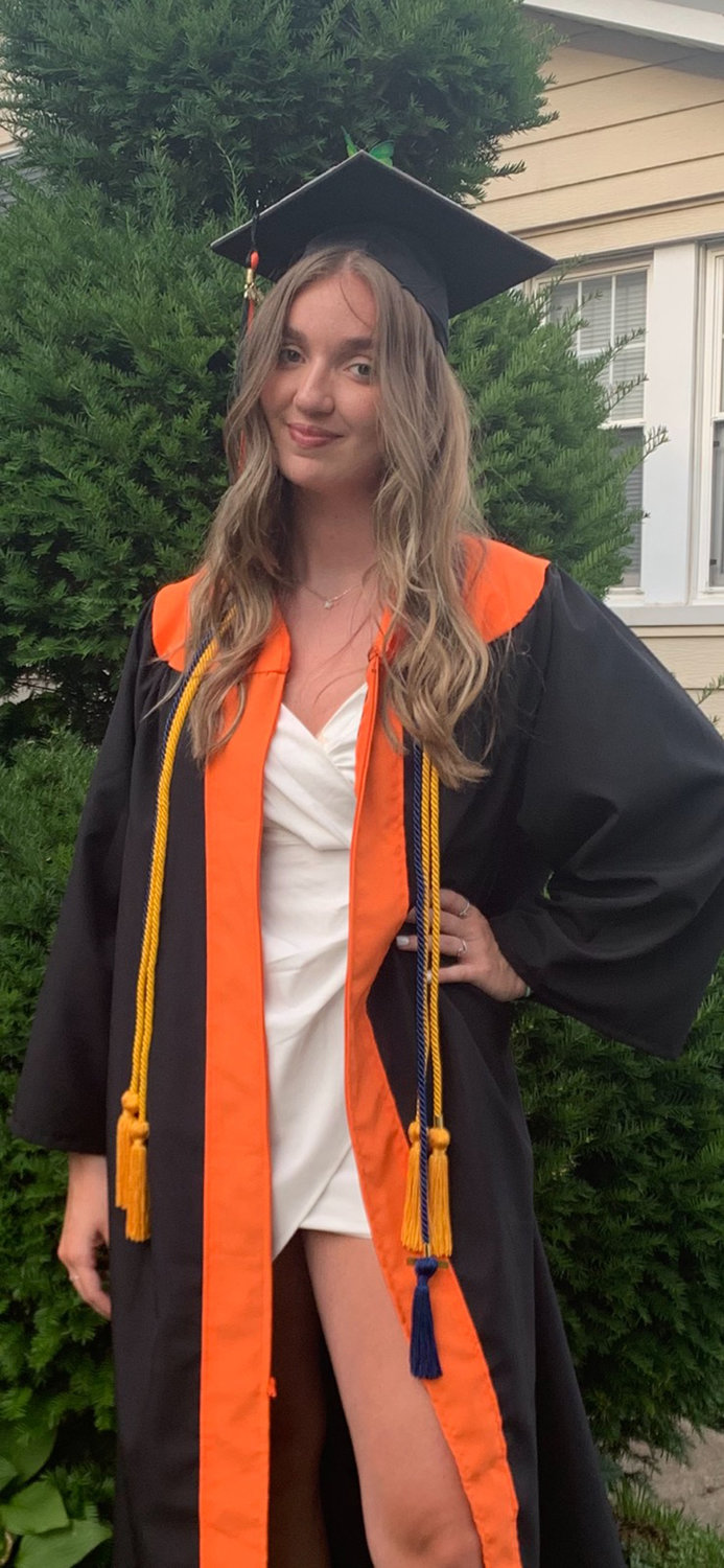 Graduate, Isabella Alfieri, will be attending Nassau Community College in the fall and later attending Binghamton University in January.