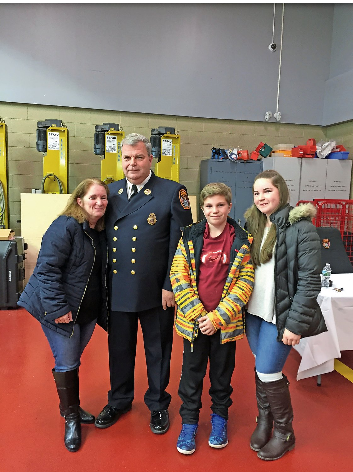 Carol served on various Parent Teacher Associations, and Frank is a commissioner for the Elmont Fire Department. Nick and Samantha are 15 and 18.