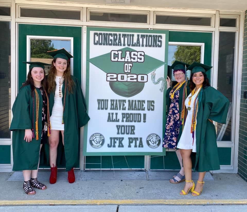 Friends Lily Stone, left, Kaitlyn D'Antone, Emily Moore and Laura Hernandez captured one final memory together ahead of graduation.