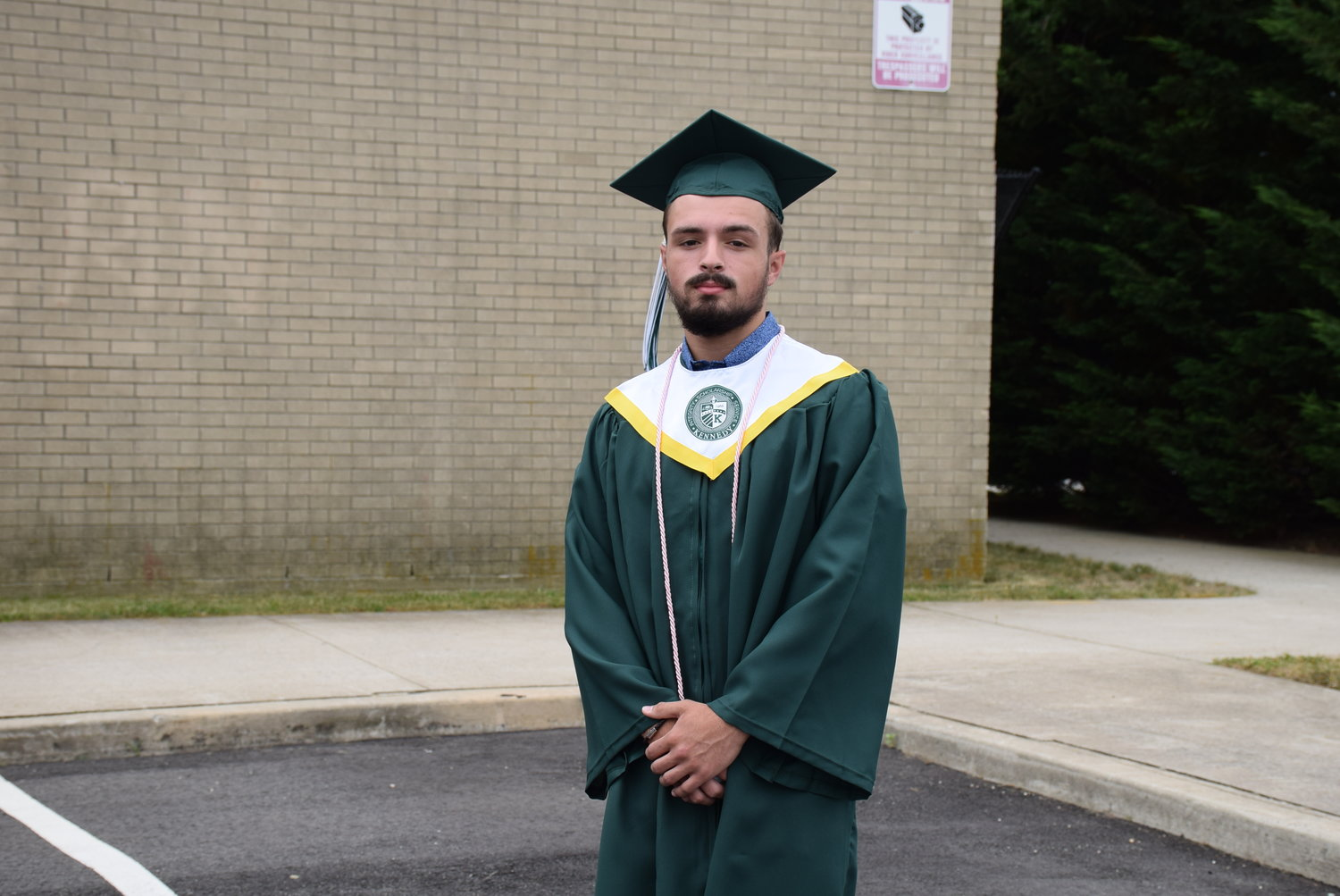 James Casazza readied for his graduation ceremony at Kennedy on June 27.