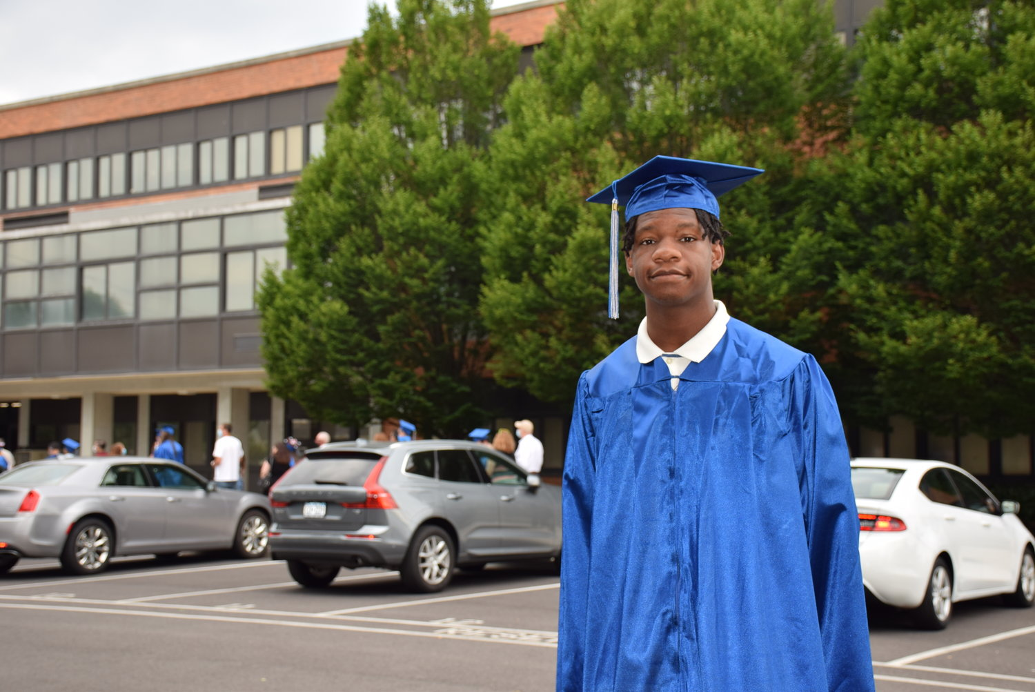 Micah Bristol lined up for his June 27 graduation ceremony at Calhoun High School.