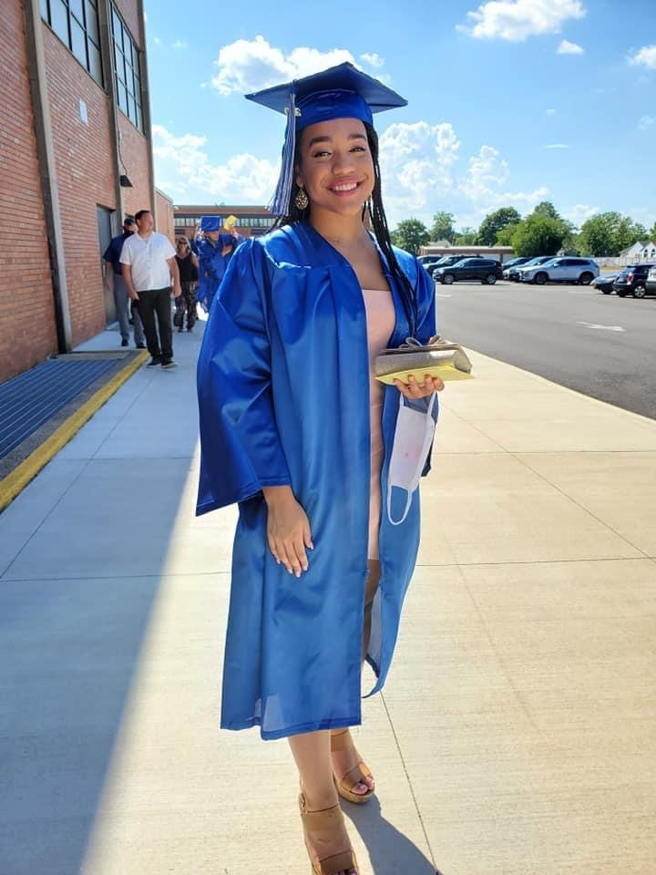 Jacqueline Edwards readied for her June 29 graduation at Calhoun High School.