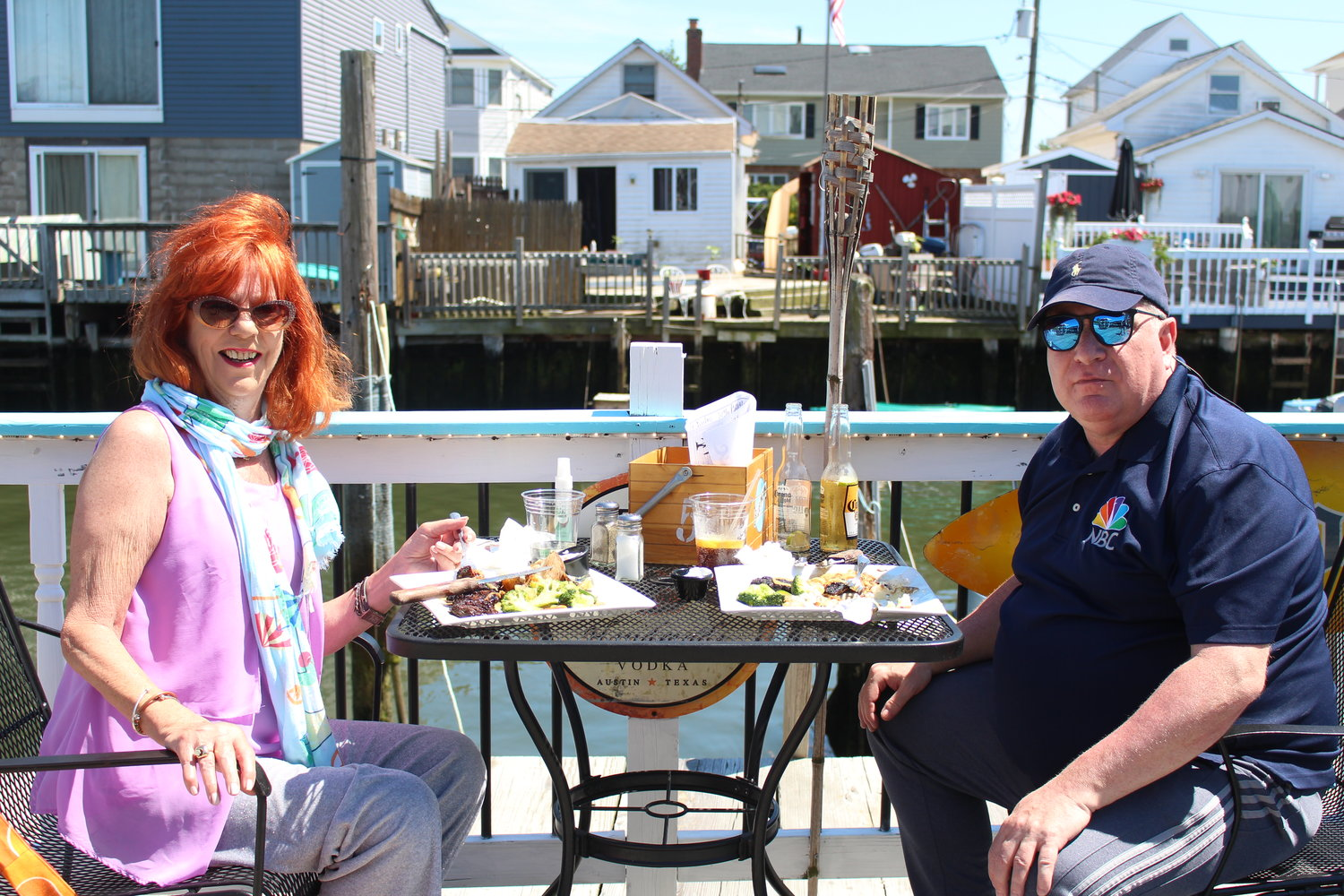 Oceanside residents Sharon O'Rourke and Chris Gigante dined at Sonny's Canal House in Baldwin on June 19.
