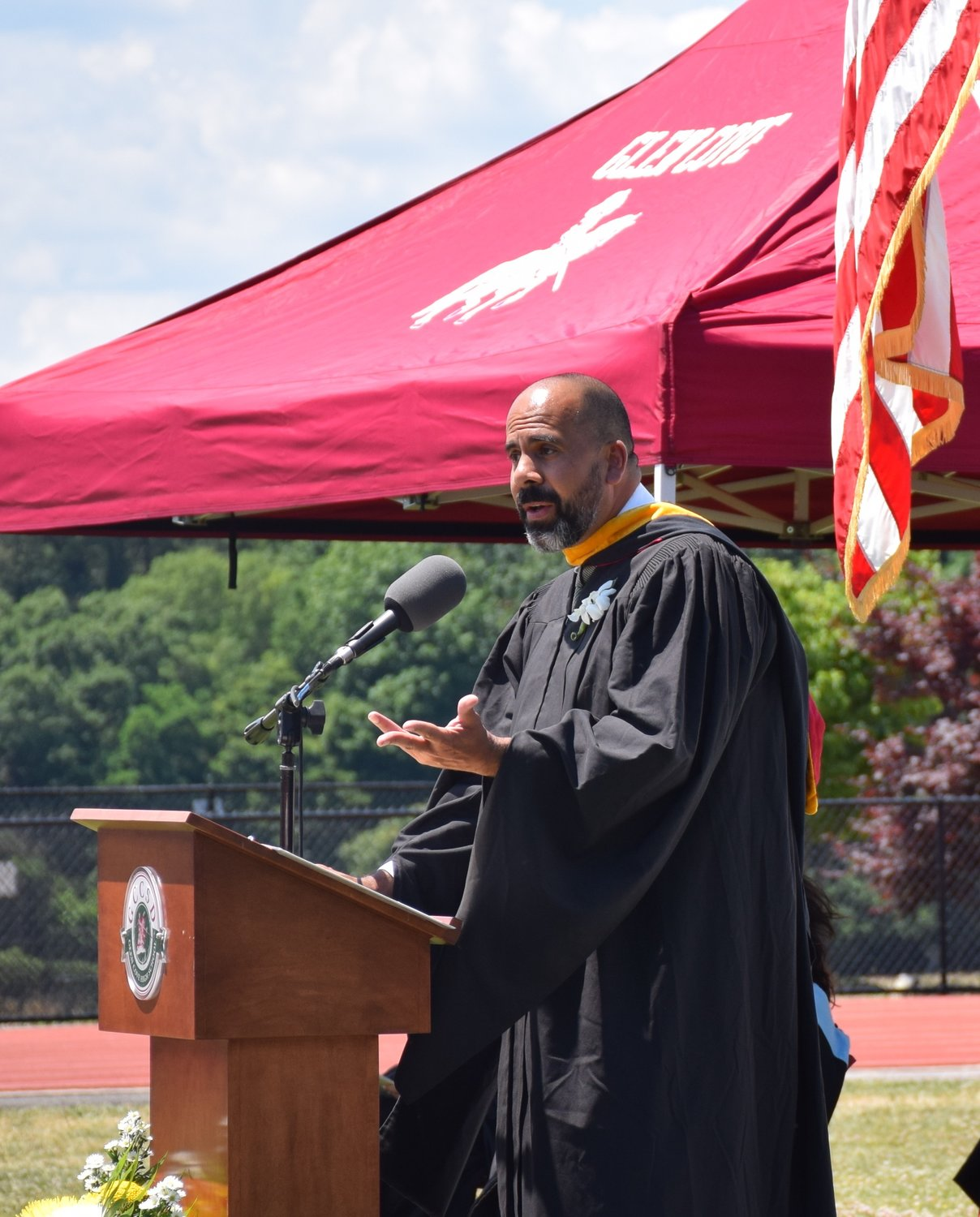 Principal Antonio Santana spoke passionately to the Class of 2020.