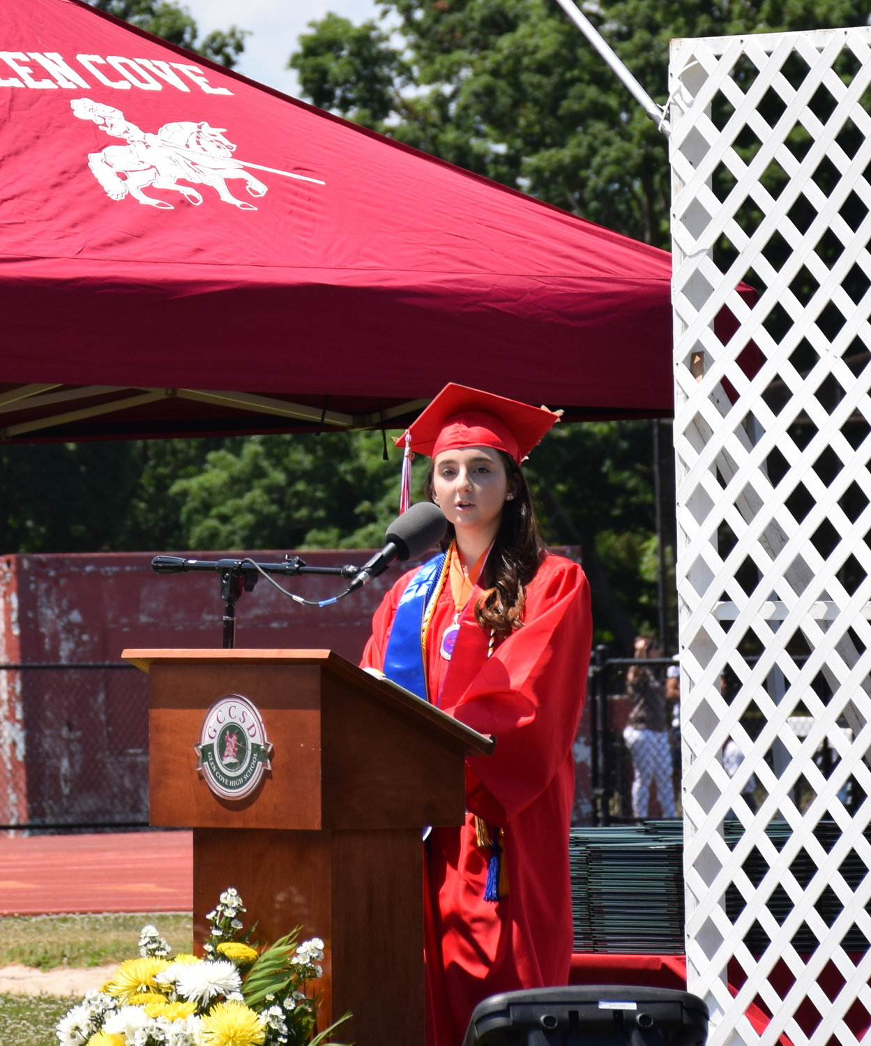 Senior class co-President Carina Gigliotti spoke to the class of 2020.