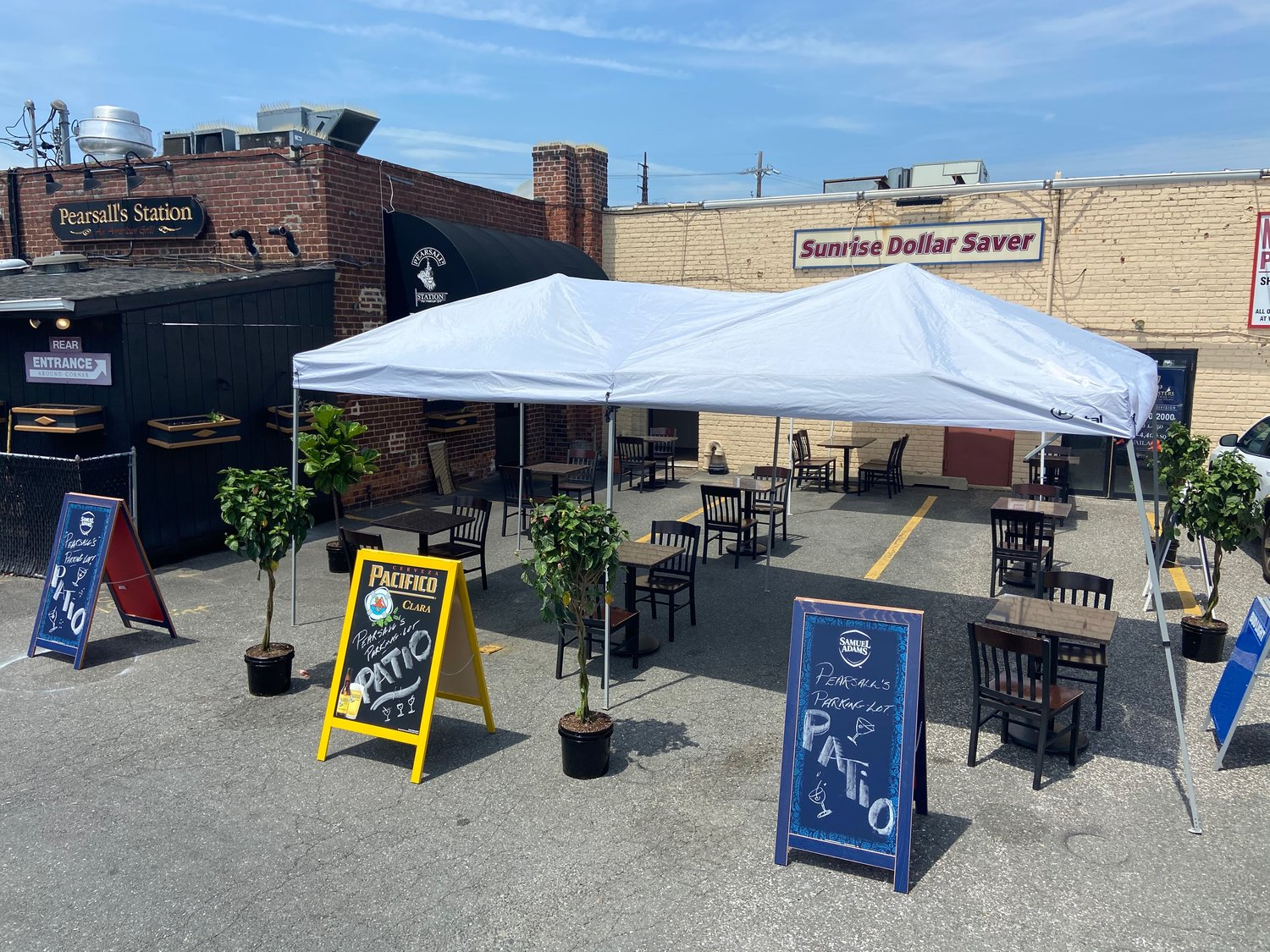 On June 12, Pearsall's Station in Lynbrook opened for outdoor dining.