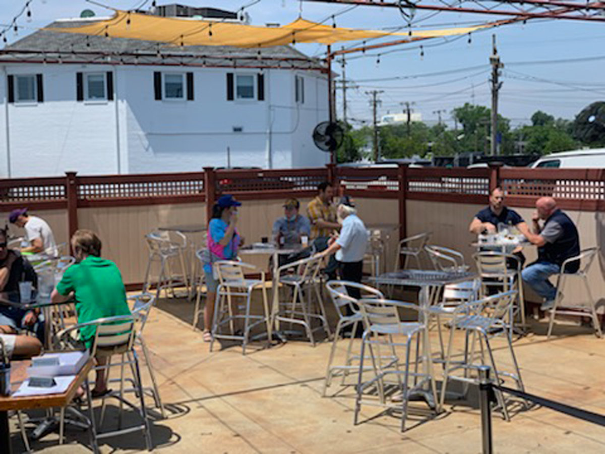 Craft Kitchen and Tap house in Lynbrook served customers for outdoor dining for the first time in months.
