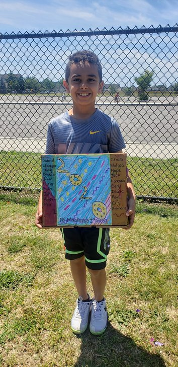 Bellmore student Gabriel Anis designed a time capsule to hold pandemic artifacts collected by Jennifer Magliano's class at the Charles A. Reinhard Early Childhood Center.