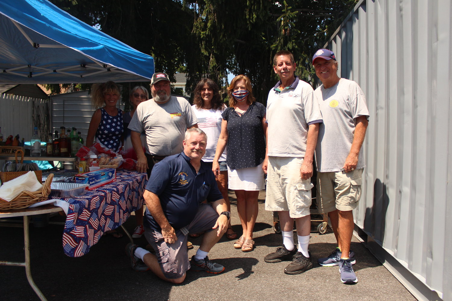 "Baldwin American Legion Post 246 members were joined by State Assemblywoman Judy Griffin last Saturday at the post's Independence Day ""Welcome Back"" barbecue."