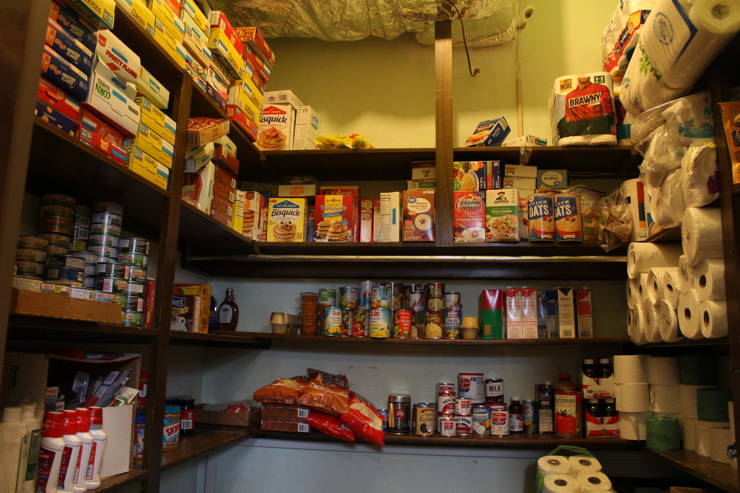 The pantry offers nonperishable food items as well as clothes, shoes, toiletries and other items.