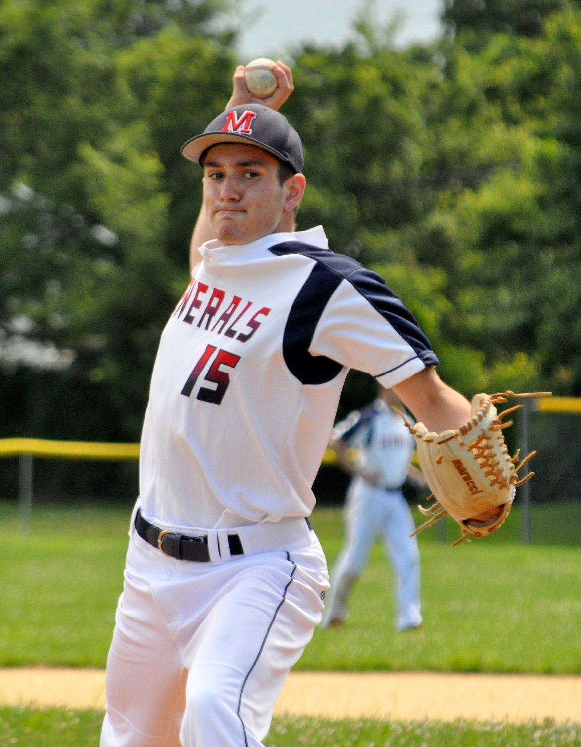 Pitcher Nick DellItalia is part of a deep MacArthur summer league roster.