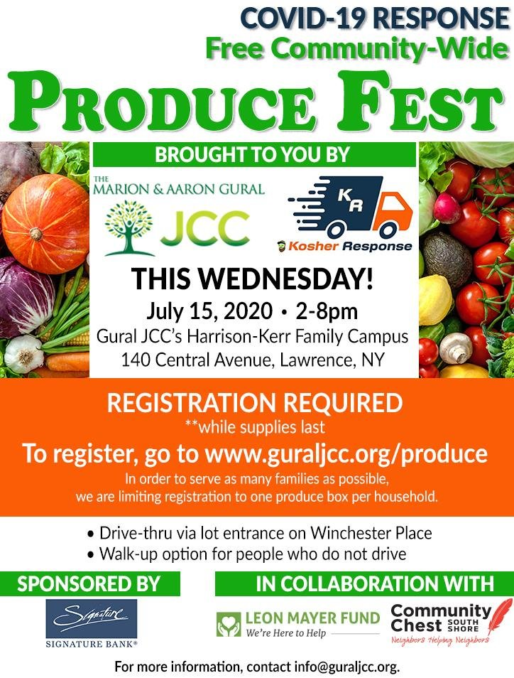 Registration is required for the Gural JCC's free communitywide produce fest on July 15.