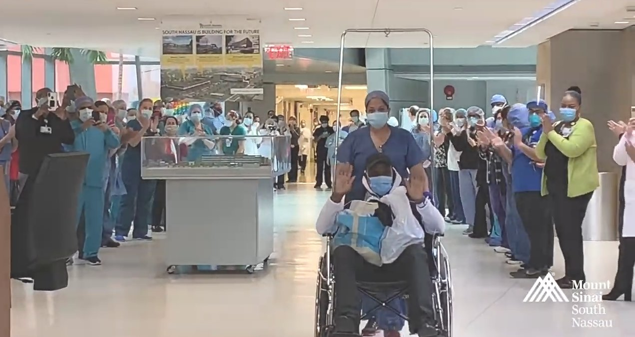 "Footage from a Covid-19 patient being discharged appears in the ""Behind the Mask"" video promoting the series."