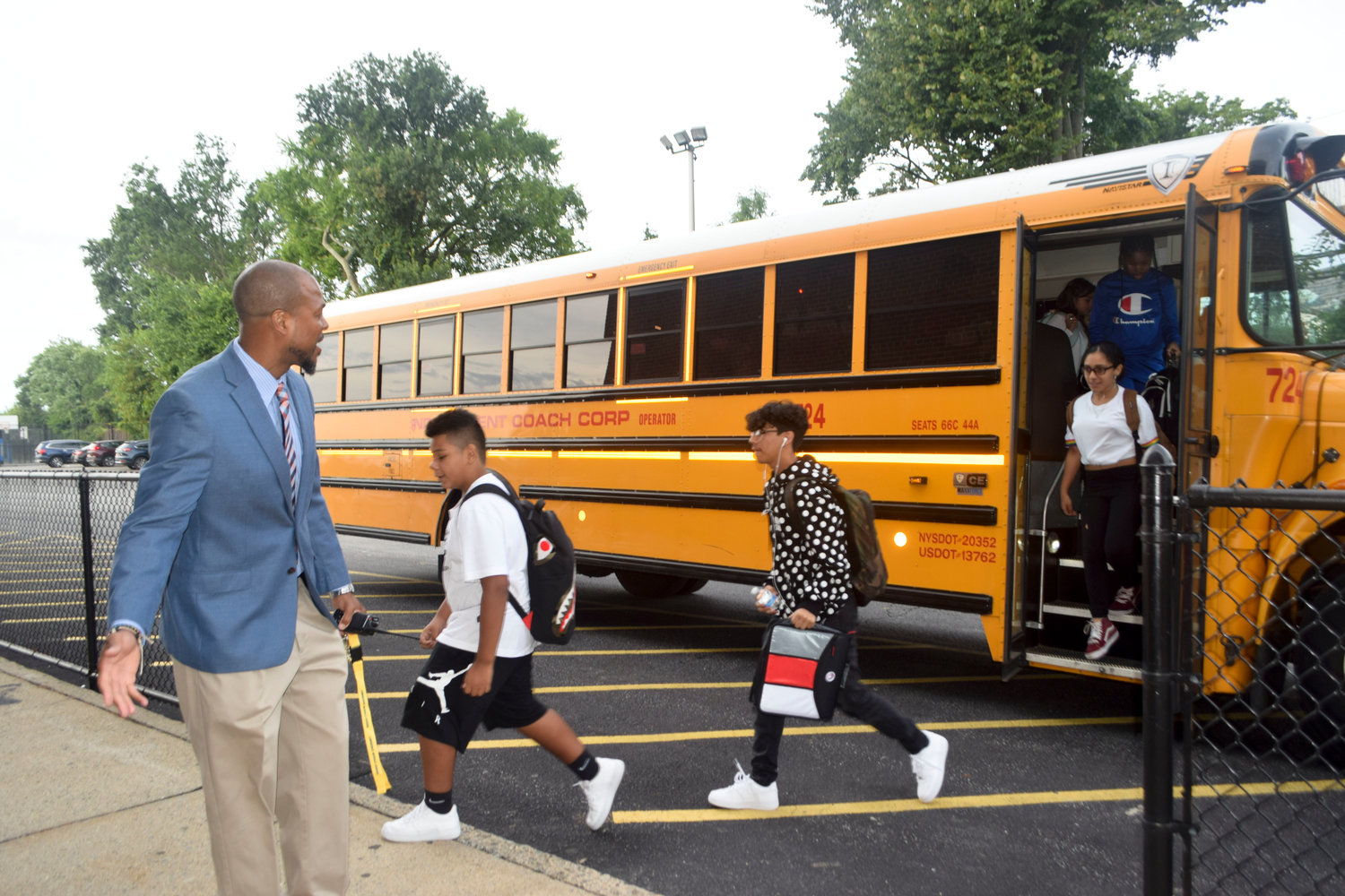 It is still unknown if Lawrence Middle School Principal Willis Perry will get to welcome students back to school in September, as he did last year.