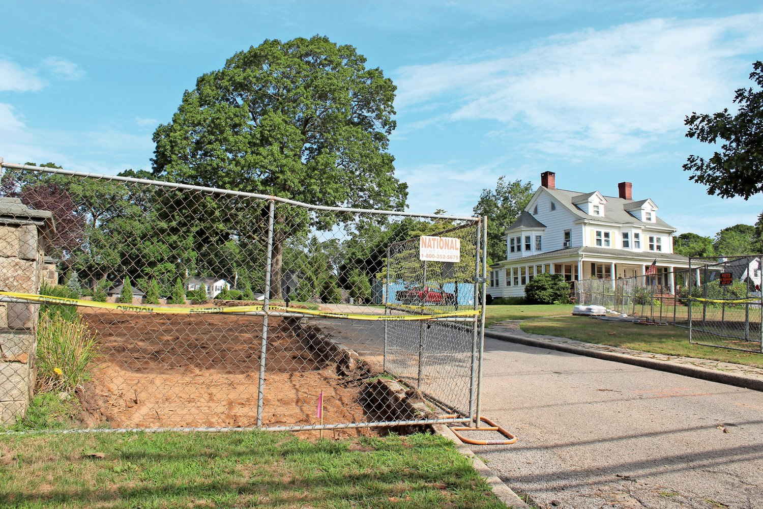 Construction will begin on Killarney Lane immediately, according to Christian Browne, the attorney for property owners James and Brett O'Reilly.