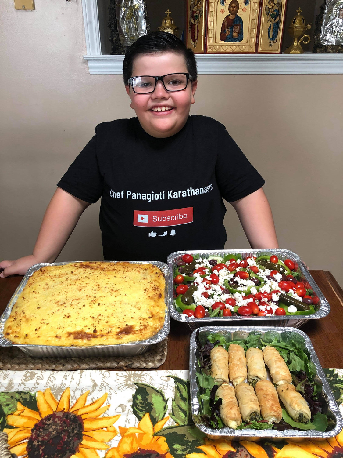 These meals prepared by Panagioti Karathanasis and his mother Stacey Karathanasis were given away to lucky winners on a Facebook contest.