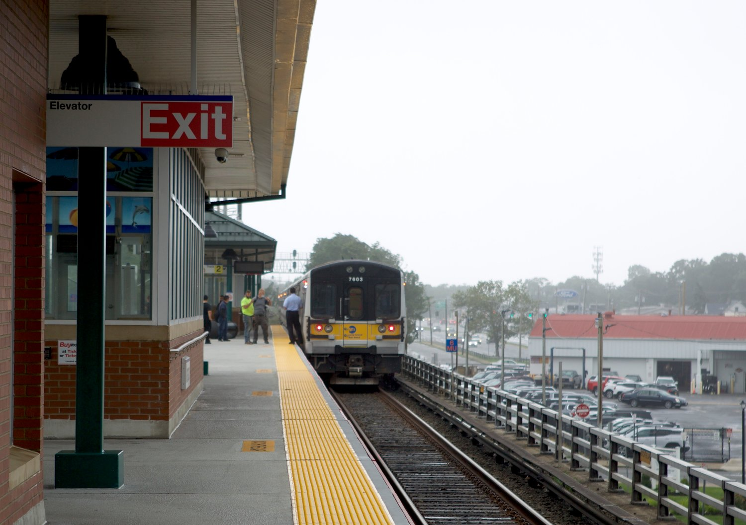 A Long Island Rail Road train became stuck at the Wantagh station amid Isaias. The LIRR shut down all service during the storm.