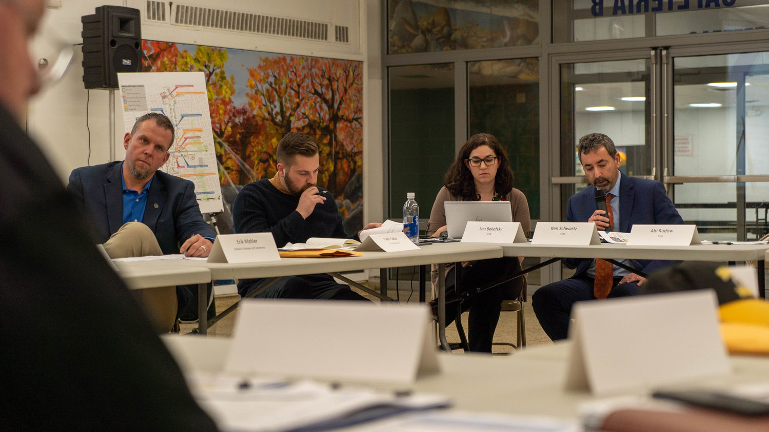 Baldwin Downtown Revitalization Initiative Local Planning Committee members and consultants narrowed down a list of potential projects for the downtown area at a January meeting.
