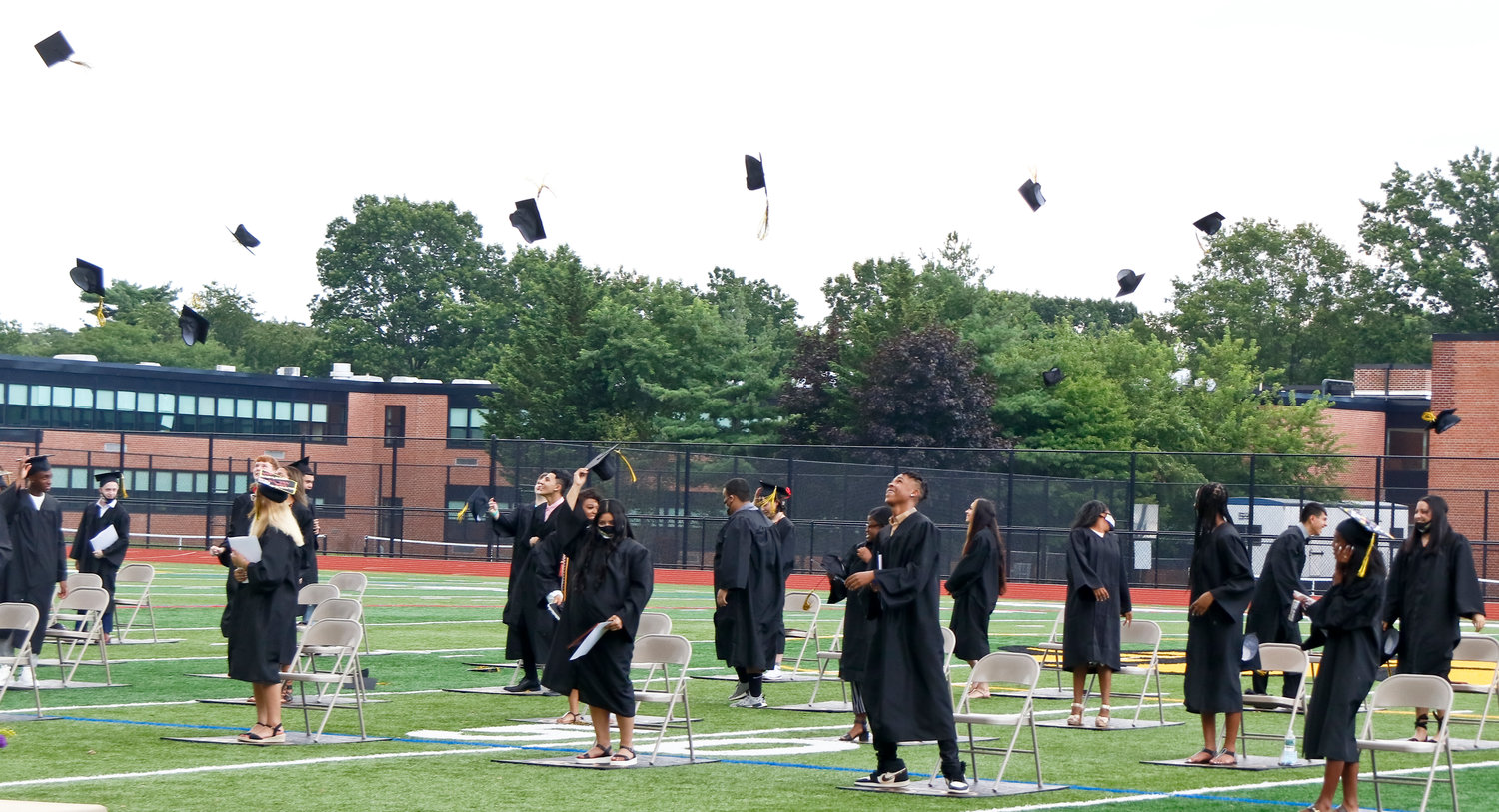 West Hempstead High School's class of 2020 tossed their mortarboards during their annual graduation ceremony on Aug. 1.