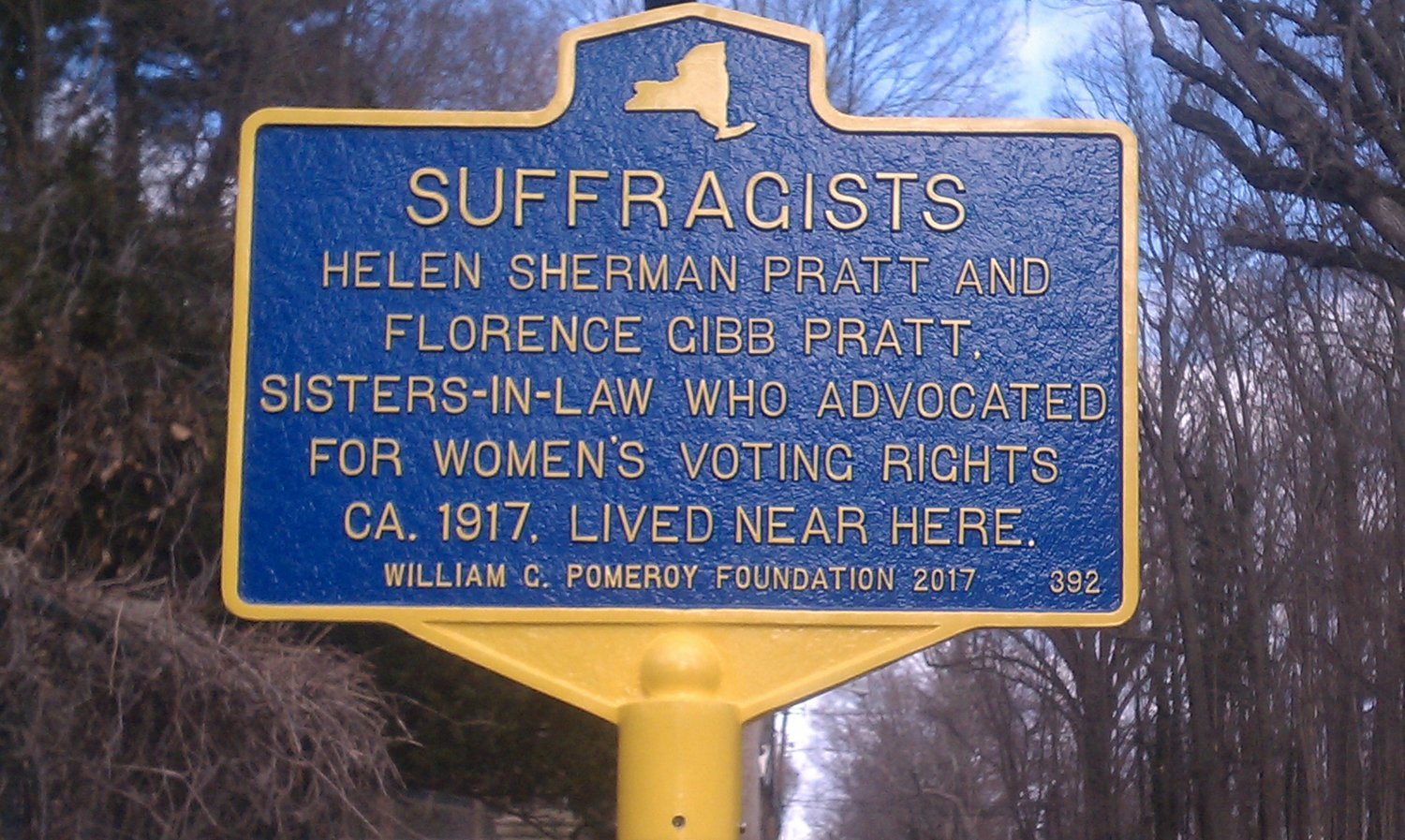 In 2017, the City of Glen Cove and the Long Island Woman Suffrage Association had dedicated a Woman Suffrage historic marker on Dosoris Lane to commemorate the 100th anniversary of women's right to vote in the state of New York and the contribution of Glen Cove Suffragists.