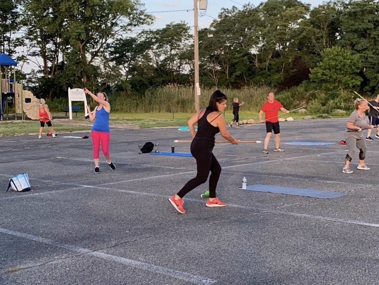 Staff and clients of the Max Challenge of Glen Cove were happy to work out with one another again with the introduction of outdoor classes at Morgan Park and Pryibil Beach.