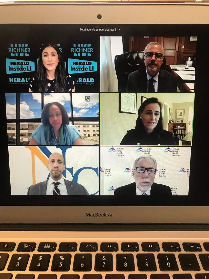 Several leaders in higher education, as well as one medical professional, spoke about reopening colleges amid a pandemic during a Inside LI webinar, part of an ongoing series.