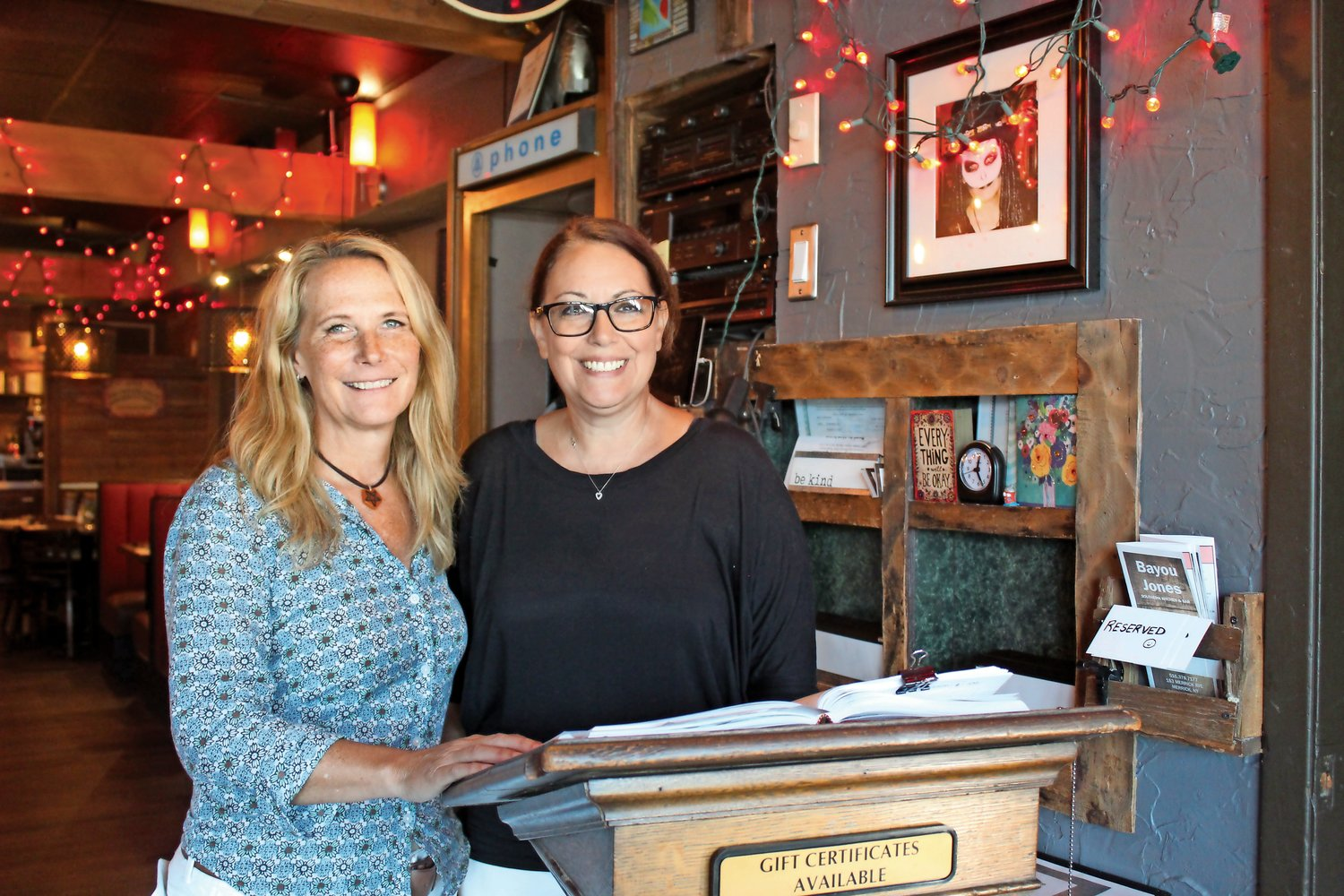 Bayou Jones co-owners Lisa Livermore, left, and Staci Tucci, opened the Cajun/Creole restaurant in June 2019, but because of the Covid-19 pandemic, it has closed permanently.